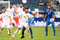 KANSASCITY, KS - JULY 11: Jonathan Osorio #21 of Canada watches  the ball during a game between Canada and Martinique at Children's Mercy Park on July 11, 2021 in KansasCity, Kansas.
