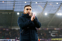 Swansea City manager Carlos Carvalhal after the final whistle of the Premier League match between Swansea City and Burnley at the Liberty Stadium, Swansea, Wales, UK. Saturday 10 February 2018