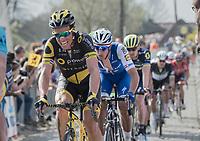 Sylvain Chavanel (FRA/Direct Energie) up the Taaienberg<br /> <br /> 101th Ronde Van Vlaanderen 2017 (1.UWT)<br /> 1day race: Antwerp › Oudenaarde - BEL (260km)