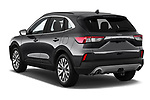 Car pictures of rear three quarter view of 2020 Ford Escape Titanium 5 Door SUV Angular Rear
