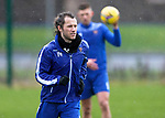 St Johnstone Training…<br />Stevie May pictured during training at McDiarmid Park ahead of Saturdays game against Motherwell.<br />Picture by Graeme Hart.<br />Copyright Perthshire Picture Agency<br />Tel: 01738 623350  Mobile: 07990 594431