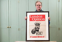 BNPS.co.uk (01202) 558833<br /> Pic: ZacharyCulpin/BNPS<br /> <br /> Auctioneer, Patrick Bogue with Kitchener poster<br /> <br /> An incredibly-rare poster that was the forerunner for the famous 'Your Country Wants You' World War One recruitment advert has been discovered.†<br /> The poster, featuring Lord Kitchener pointing his finger, was a news stand advert for an edition of the magazine London Opinion in September 1914.<br /> Officials from the War Office spotted it and decided they wanted the same design for their nationwide recruitment campaign for young men to join the army.†