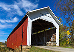 Parke County, Indiana:<br /> Sims Smith covered bridge (1883) on Leatherwood Creek