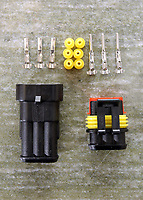 Electric and electronic components for mobility scooters sold by Xanthos Xanthopoulos from his unit in Llansamlet, Swansea, Wales, UK. Thursday 13 April 2017