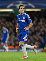 Cesc Fabregas of Chelsea in action during the UEFA Champions League Group G match between Chelsea and Dynamo Kyiv at Stamford Bridge, London, England on 4 November 2015. Photo by Andy Rowland.