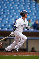 Lake County Captains outfielder Taylor Murphy (9) at bat during a game against the Fort Wayne TinCaps on May 20, 2015 at Classic Park in Eastlake, Ohio.  Lake County defeated Fort Wayne 4-3.  (Mike Janes/Four Seam Images)