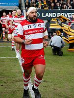 Photo: Richard Lane/Richard Lane Photography. Wasps v Gloucester Rugby.  Aviva Premiership. 23/12/2017.  Gloucester's John Afoa.