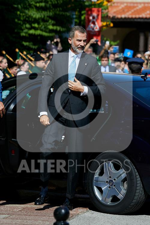 King Felipe VI of Spain visit Covadonga, Spain. September 08, 2018. (ALTERPHOTOS/A. Perez Meca)