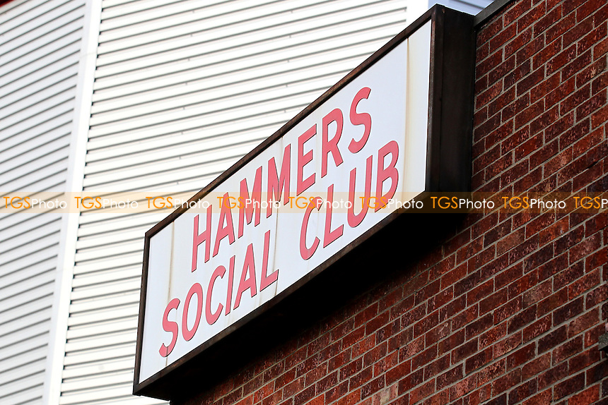 Hammers Social Club Sign ahead of West Ham United Ladies vs Tottenham Hotspur Ladies, FA Women's Premier League Football at the Boleyn Ground, Upton Park
