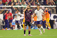 LAS VEGAS, NV - AUGUST 1: Rodolfo Pizarro #24 of Mexico reacts to a USMNT goal during a game between Mexico and USMNT at Allegiant Stadium on August 1, 2021 in Las Vegas, Nevada.