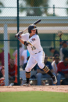 GCL Pirates Dylan Shockley (36) at bat during a Gulf Coast League game against the GCL Twins on August 6, 2019 at Pirate City in Bradenton, Florida.  GCL Twins defeated the GCL Pirates 4-2 in the first game of a doubleheader.  (Mike Janes/Four Seam Images)