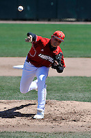 Louisville Cardinals pitcher Mike Nastold (33) during a game against St.John's Red Storm at Jack Kaiser Stadium in Queens, New York;  April 17, 2011.  St. John's defeated Louisville 7-2.  Photo By Tomasso DeRosa/Four Seam Images