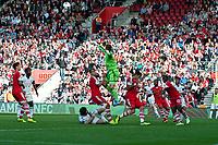 Sun 06 October 2013 Pictured: Artur Boruc makes a sacwe  Re: Barclays Premier League Southampton FC  v Swansea City FC  at St.Mary's Stadium, Southampton
