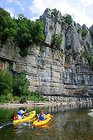 Kayak à Casteljau Ardèche