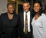Rhea Brown-Lawson, D'Artaganan Bebel and Winell Herron  at the NAACP's Hollywood Comes to Houston party at Advantage BMW Thursday  Feb. 12, 2009.(Dave Rossman/For the Chronicle)