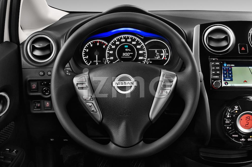 Steering wheel view of a 2013 Nissan NOTE 5 Door Hatchback 2WD