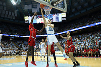 CHAPEL HILL, NC - NOVEMBER 01: Walker Miller #22 of the University of North Carolina shoots a layup during a game between Winston-Salem State University and University of North Carolina at Dean E. Smith Center on November 01, 2019 in Chapel Hill, North Carolina.