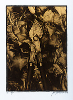 """This is a Platinum Palladium print on Velum over pure gold leaf. Image size 8"""" on the long side / 20 cm"""