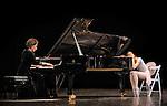 THE CONCERT..OU LES MALHEURS DE CHACUN....Choregraphie : ROBBINS Jerome..Mise en scene : ROBBINS Jerome..Compositeur : CHOPIN Frederic..Compagnie : Ballet de l Opera National de Paris..Lumiere : TIPTON Jennifer..Costumes : SHARAFF Irene..Avec :..PELOVSKA Vessela : La pianiste..GILBERT Dorothee : la ballerine..Lieu : Opera Garnier..Ville : Paris..Le : 20 04 2010..© Laurent PAILLIER / photosdedanse.com..All rights reserved