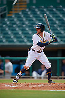 Montgomery Biscuits Dalton Kelly (9) at bat during a Southern League game against the Mobile BayBears on May 2, 2019 at Riverwalk Stadium in Montgomery, Alabama.  Mobile defeated Montgomery 3-1.  (Mike Janes/Four Seam Images)