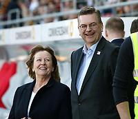 DFB Vizepresidentin Hannelore Ratzeburg, president Reinhard Grindel   <br /> /   World Championships Qualifiers women women /  2017/2018 / 07.04.2018 / DFB National Team / GER Germany vs. Czech Republic CZE 180407064 / <br />  *** Local Caption *** © pixathlon<br /> Contact: +49-40-22 63 02 60 , info@pixathlon.de