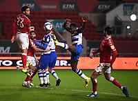 16th February 2021; Ashton Gate Stadium, Bristol, England; English Football League Championship Football, Bristol City versus Reading; Lucas Joao of Reading is unable to reach a crossed ball