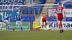 St Johnstone v Aberdeen…10.04.21   McDiarmid Park   SPFL<br />Jonny Hayes scores for Aberdeen<br />Picture by Graeme Hart.<br />Copyright Perthshire Picture Agency<br />Tel: 01738 623350  Mobile: 07990 594431