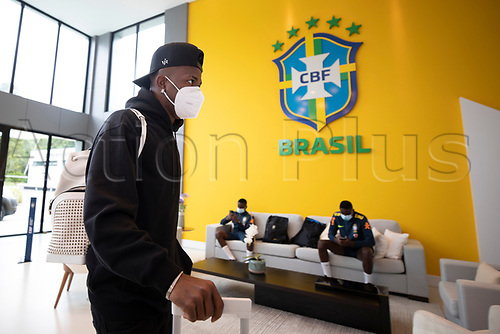 10th November 2020; Granja Comary, Teresopolis, Rio de Janeiro, Brazil; Qatar 2022 qualifiers; Vinicius Jr. of Brazil and Real Madrid arrives at Granja Comary