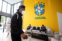 10th November 2020; Granja Comary, Teresopolis, Rio de Janeiro, Brazil; Qatar 2022 qualifiers; Vinicius Jr. of Brazil and Real Madrid arrives at Granja Comary