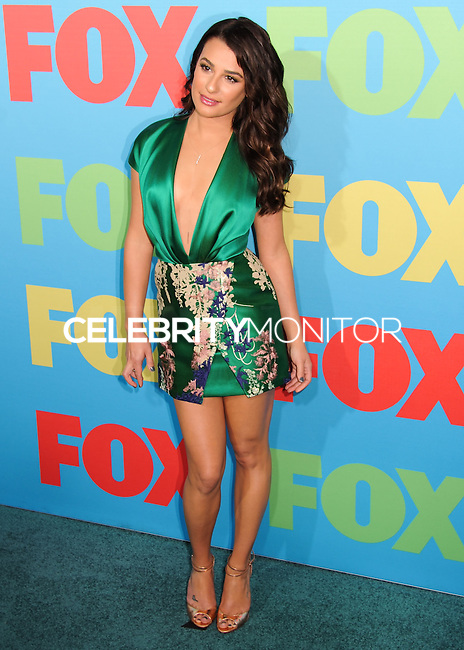 NEW YORK CITY, NY, USA - MAY 12: Lea Michele at the FOX 2014 Programming Presentation held at the FOX Fanfront on May 12, 2014 in New York City, New York, United States. (Photo by Celebrity Monitor)