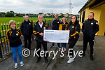 Chloe Smith winner of the Austin Stacks GAA lotto of €13,500:00 presented with her winning cheque on Tuesday evening at the clubhouse. Front L to r: Bernie Mannix, Brendan O'Regan,Chloe Smith and Richard Healy. Back l to r: Billy Ryle (Chairman), John Tobin and Lorraine Healy.