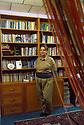Iraq 2014  Koysanjak, Nahid Hosseini,poet, journalist, activist at home in her library <br /> Irak 2014 Dans sa maison de <br /> Koysanjak, Nahid Hosseini, poetesse, journaliste, activiste devant sa bibliotheque