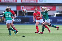 Claire Molloy of Ireland in action during the Women's Six Nations match between Wales and Ireland at Cardiff Arms Park, Cardiff, Wales, UK. Sunday 17 March 2019