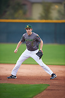 Joseph Ammirato (9) of Bellarmine College Prep High School in San Jose, California during the Under Armour All-American Pre-Season Tournament presented by Baseball Factory on January 14, 2017 at Sloan Park in Mesa, Arizona.  (Mike Janes/MJP/Four Seam Images)