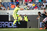 Orlando, Florida - Saturday, June 04, 2016: Paraguayan goalkeeper Justin Villar (1) during a Group A Copa America Centenario match between Costa Rica and Paraguay at Camping World Stadium.