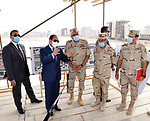 Egyptian President Abdel Fattah el-Sisi, inspects a number of projects and construction sites in the New Administrative Capital in Cairo, Egypt, on November 1, 2020. Photo by Egyptian President Office