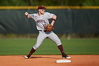 Minnesota Golden Gophers second baseman Luke Pettersen (13) during a game against the Boston College Eagles on February 23, 2018 at North Charlotte Regional Park in Port Charlotte, Florida.  Minnesota defeated Boston College 14-1.  (Mike Janes/Four Seam Images)