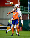 05/08/2010   Copyright  Pic : James Stewart.sct_jsp026_Motherwell_v_Aalesund  .::  MARK REYNOLDS GETS ABOVE TOR HOGNE AAROY ::  .James Stewart Photography 19 Carronlea Drive, Falkirk. FK2 8DN      Vat Reg No. 607 6932 25.Telephone      : +44 (0)1324 570291 .Mobile              : +44 (0)7721 416997.E-mail  :  jim@jspa.co.uk.If you require further information then contact Jim Stewart on any of the numbers above.........