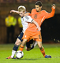 GARY MACKAY-STEVEN AND ADAM MAHER CHALLENGE FOR THE BALL