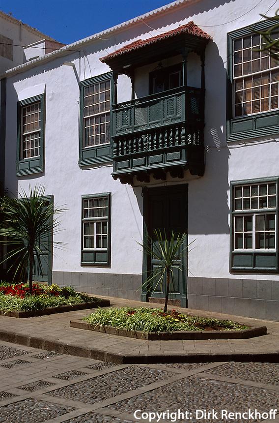 Spanien, Kanarische Inseln, La Palma,  Santa Cruz, kanarisches Haus