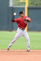 Arizona Diamondbacks second baseman Didimo Bracho (9) during an Instructional League game against the Colorado Rockies on October 8, 2014 at Salt River Fields at Talking Stick in Scottsdale, Arizona.  (Mike Janes/Four Seam Images)