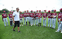 DYERSVILLE, IOWA - AUGUST 11: Fox Sports announcer Alex Rodriguez meets the Harlem DREAM youth baseball team before the game at the MLB Field of Dreams on August 11, 2021 in Dyersville, Iowa. The MLB Field of Dreams game between the Yankees and White Socks will be on August 12 on Fox. (Photo by Frank Micelotta/Fox Sports/PictureGroup)