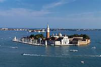San Giorgio Maggiore erbaut von Andrea Palladio 1565, Venedig,  Venetien, Italien, Unesco-Weltkulturerbe