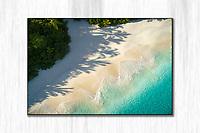 Shadows of palm trees<br /> Cinnamon Bay<br /> St. John<br /> US Virgin Islands
