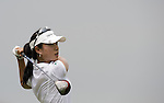 SINGAPORE - MARCH 05:  Hee Young Park of South Korea plays tee shot on the par four 16th hole during the first round of HSBC Women's Champions at the Tanah Merah Country Club on March 5, 2009 in Singapore.  Photo by Victor Fraile / The Power of Sport Images