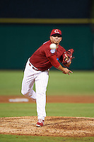 Clearwater Threshers pitcher Alexis Rivero (16) delivers a pitch during the first game of a doubleheader against the Jupiter Hammerheads on July 25, 2015 at Bright House Field in Clearwater, Florida.  Clearwater defeated Jupiter 2-1.  (Mike Janes/Four Seam Images)