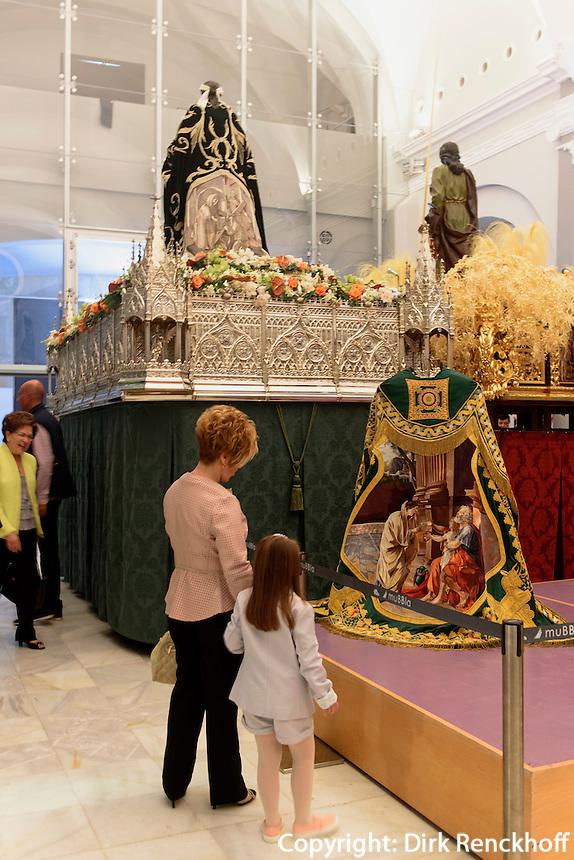 Museo de Bordados (MUBBLA) mit Seidenstickereien der  Bruderschaft Paso Blanco  in Lorca,  Provinz Murcia, Spanien, Europa