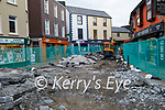 The road works on Russell St