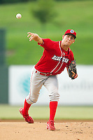 Lakewood BlueClaws starting pitcher Jonathan Musser (22) in action against the Kannapolis Intimidators at CMC-Northeast Stadium on August 13, 2013 in Kannapolis, North Carolina.  The Intimidators defeated the BlueClaws 12-8.  (Brian Westerholt/Four Seam Images)