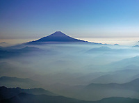 aerial photograph of Mount Fuji, Fujiyama, Japan
